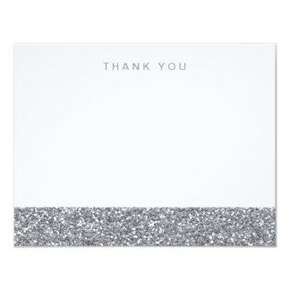 Obrigado de prata cinzento do brilho do falso você convites personalizado