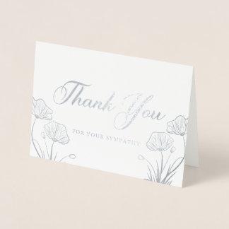 Obrigado de prata elegante da simpatia das cartão metalizado
