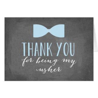 Obrigado de Usher você padrinho de casamento de | Cartão De Nota