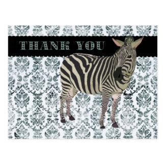 Obrigado de Zeb você cartão do damasco Cartão Postal
