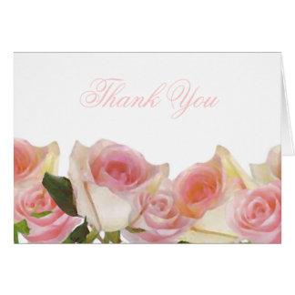 Obrigado delicado do rosa do rosa você cartões
