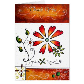 Obrigado design original da arte por MADART Cartão Comemorativo