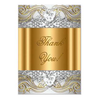 Obrigado diamante da festa de aniversário do ouro convite 8.89 x 12.7cm