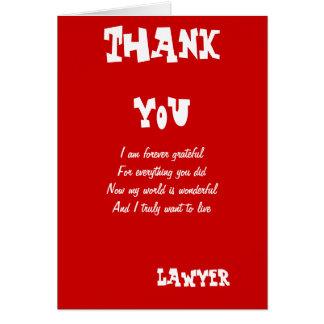 Obrigado do advogado você cartões