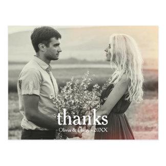 Obrigado do aniversário de casamento você cartão