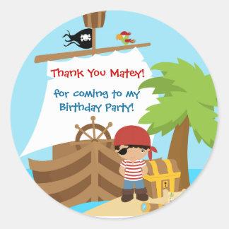 Obrigado do aniversário do menino do navio de adesivo