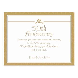 Obrigado do aniversário do ouro você cartão
