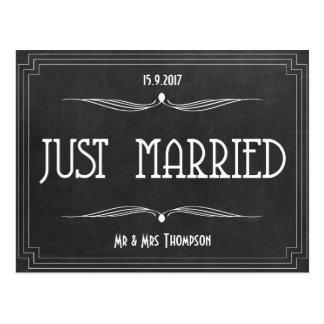 Obrigado do art deco do recem casados você cartão postal