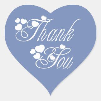 Obrigado do azul e do branco você ama corações - adesivo coração