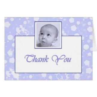 Obrigado do baptismo/batismo do menino você cartão de nota