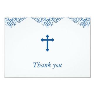 Obrigado do baptismo/batismo dos meninos azuis