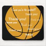 Obrigado do basquetebol você presentes mouse pads