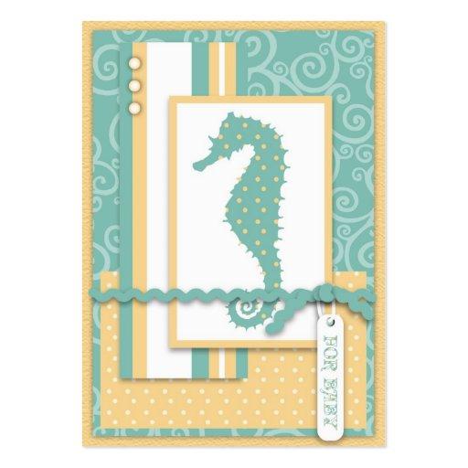 Obrigado do bebê do cavalo marinho você Notecard Cartão De Visita