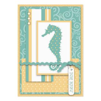 Obrigado do bebê do cavalo marinho você Notecard Cartão De Visita Grande