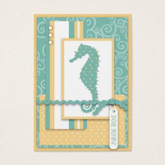 Obrigado do bebê do cavalo marinho você Notecard Cartão De Visitas