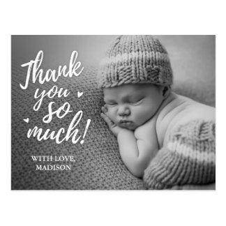 Obrigado do bebê você cartão
