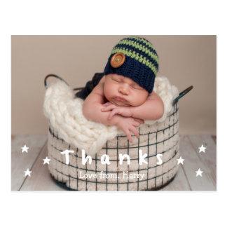 Obrigado do bebê você cartão da foto