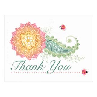 obrigado do cartão você floresce insetos da