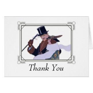 obrigado do casal dos anos 20 você cartões