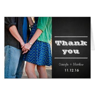 Obrigado do casamento da foto dos casais do quadro cartão comemorativo