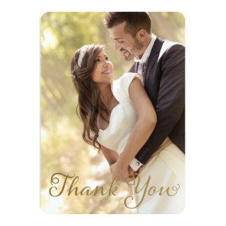 Obrigado do casamento da foto você, efeito da convite 12.7 x 17.78cm