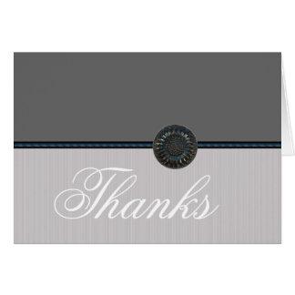 Obrigado do casamento de prata você notas cartão comemorativo