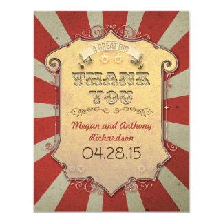 obrigado do casamento do carnaval você cartões convite 10.79 x 13.97cm