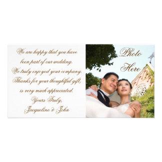 Obrigado do casamento do ~ do cartão com fotos