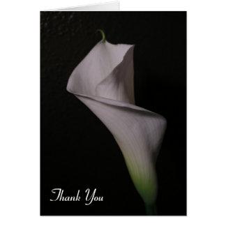 Obrigado do casamento do lírio de Calla você cartõ Cartão De Nota