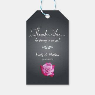 Obrigado do casamento do quadro do rosa do rosa