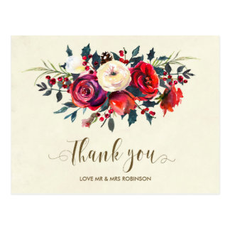 obrigado do casamento no inverno você bagas dos cartão postal