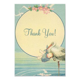 Obrigado do chá de fraldas do menino azul da convite 8.89 x 12.7cm