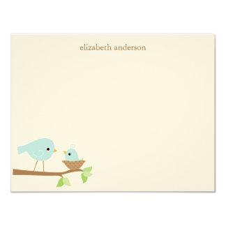 Obrigado do chá de fraldas do ninho de pássaro de convite 10.79 x 13.97cm