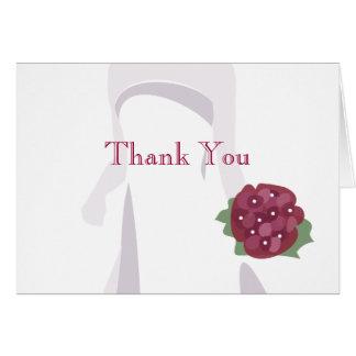 Obrigado do chá de panela você cartões de nota