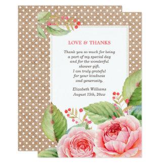 Obrigado do chá de panela você cartões lisos