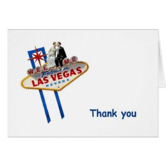 Obrigado do chapéu de coco de Las Vegas B&G você Cartão