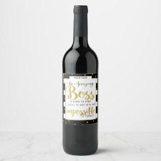 Obrigado do chefe você wine etiqueta