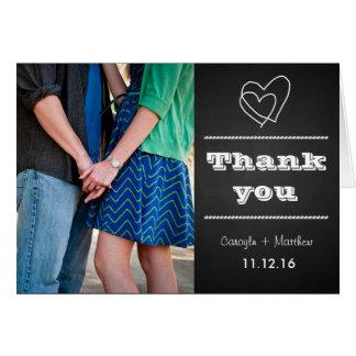 Obrigado do coração da foto dos casais do quadro cartão comemorativo