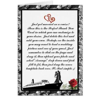 Obrigado do cruzeiro do casamento você cartões
