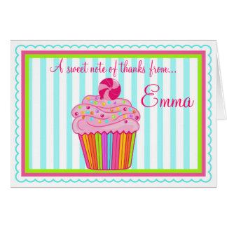 Obrigado do cupcake de Surpise dos doces você cart Cartoes