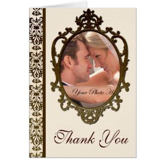 Obrigado do damasco do ouro você cartões