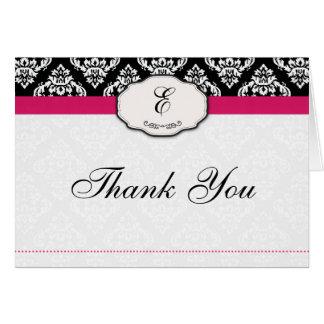 Obrigado do damasco do rosa quente você cartões