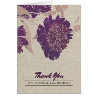 Obrigado do design floral do vintage você cartões