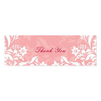 Obrigado do design No 2 você Tag do presente - ROS Cartões De Visitas