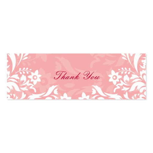 Obrigado do design No.2 você Tag do presente - ROS Cartões De Visitas