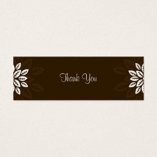 Obrigado do design No.3 você Tag do presente - Cartão De Visitas Mini