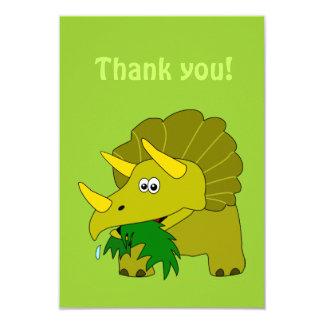 Obrigado do dinossauro dos desenhos animados do convite personalizados
