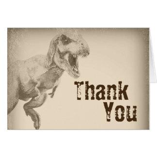 Obrigado do dinossauro dos miúdos você cartões