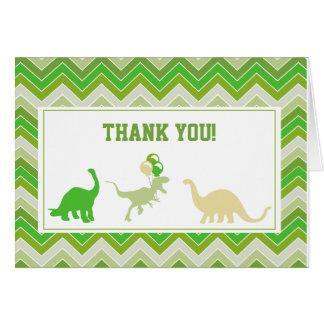 Obrigado do dinossauro você cartões de nota