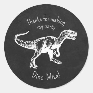 Obrigado do dinossauro você etiquetas do quadro do adesivo